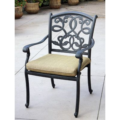 fleur de lis living windley stacking patio dining chair with cushion rh pinterest co uk
