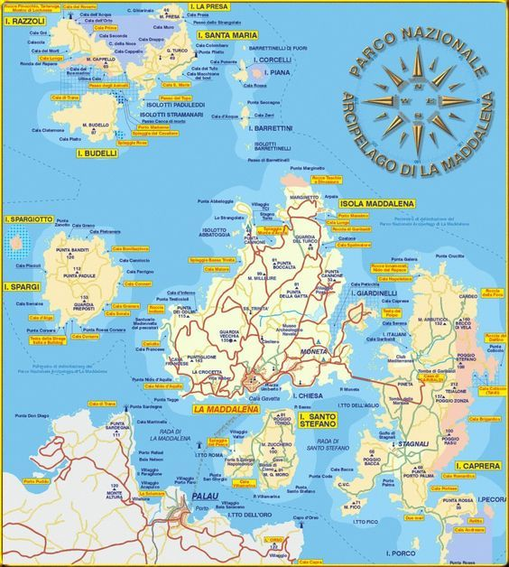La Maddalena Archipelago Mappa Maddalena Archipelago