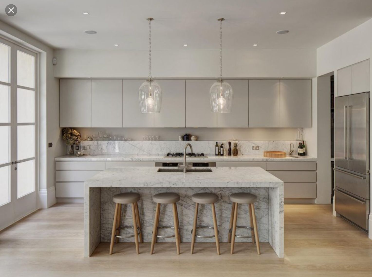 white modern kitchen with a dropped ceiling kitchens designed for rh pinterest com