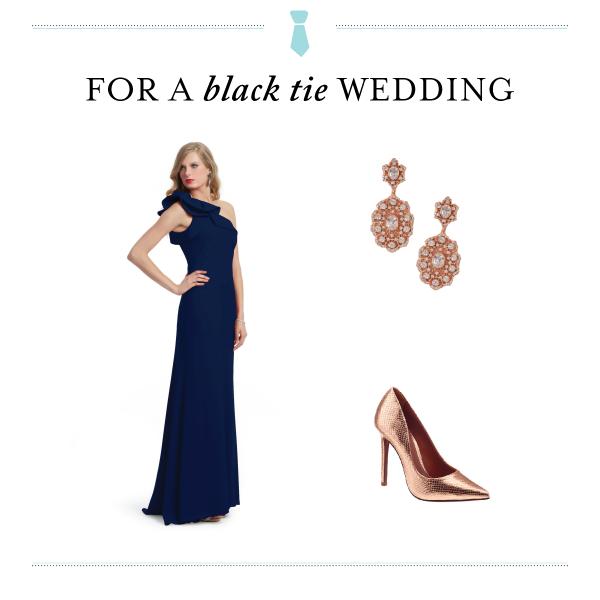 Wedding Guest Etiquette Dress Codes Navyblack Tie