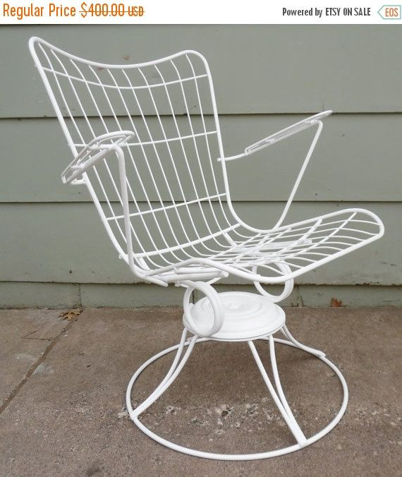 Groovy Homecrest Eames Era Metal Wire Chair White High Back Home Remodeling Inspirations Genioncuboardxyz