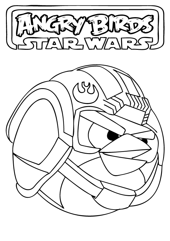 Printable Angry Birds Characters Star Wars Coloring Page