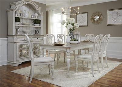 magnolia manor 44 x 108 rectangular table 7 piece dining set in rh pinterest com