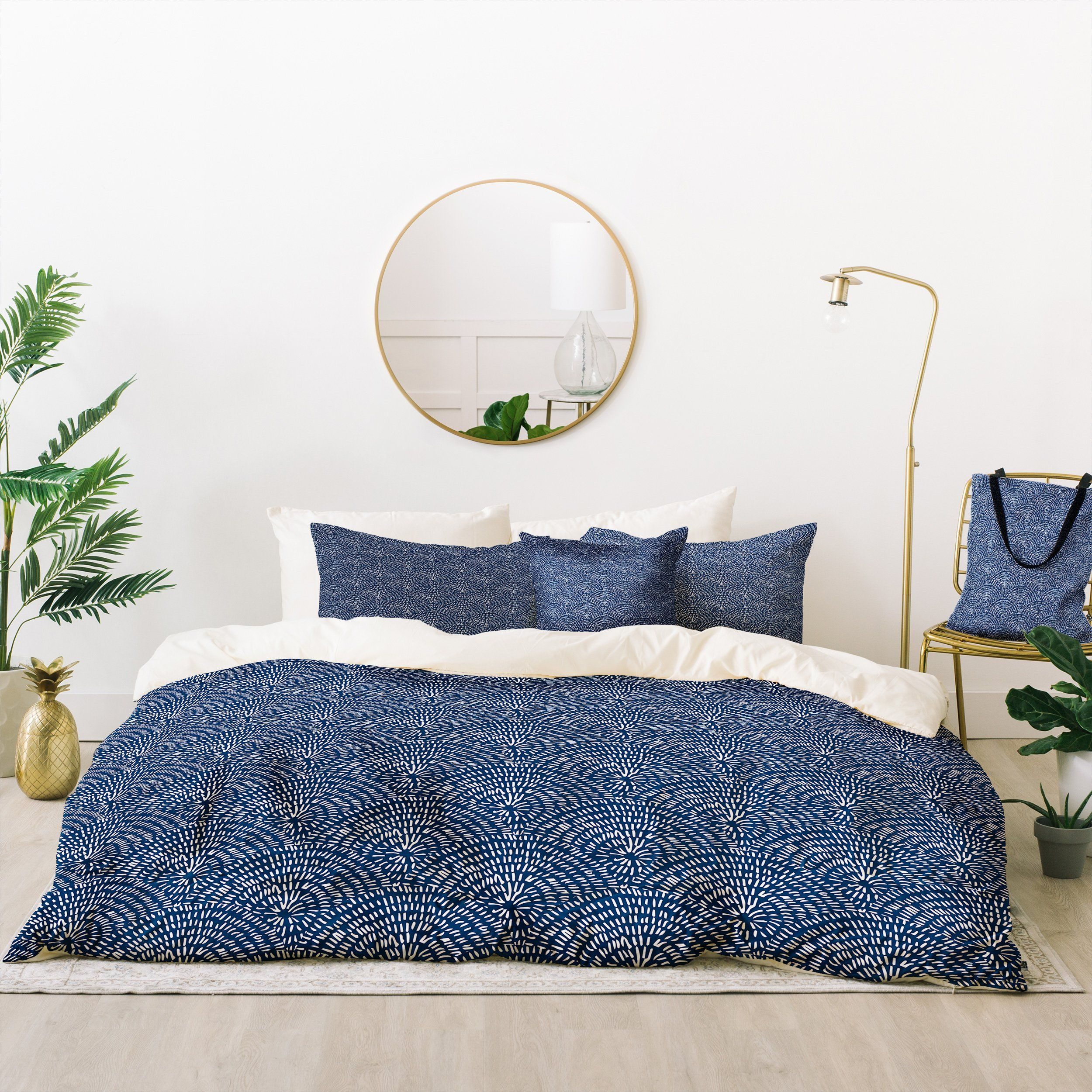 Camilla Foss Circles in Blue III Bed