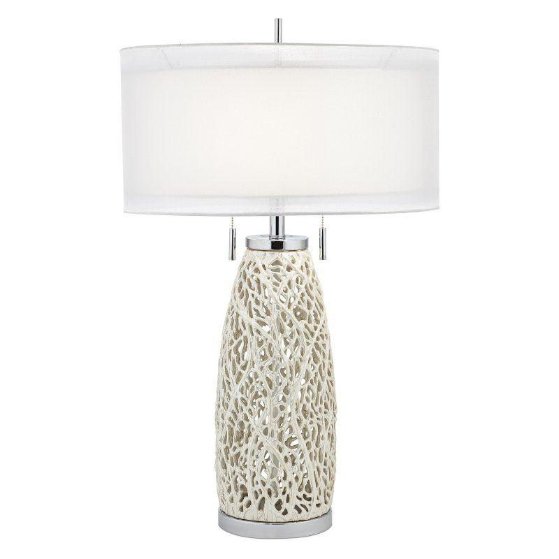 Pacific Coast Lighting Seaspray Table Lamp - Chrome - 87-6828-44