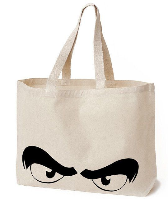 Durable Convenient And Reusable Canvas Ping Tote Bag This Eco Friendly Printed Eyes Natural Is The Perfect With Multi Purpose Utility