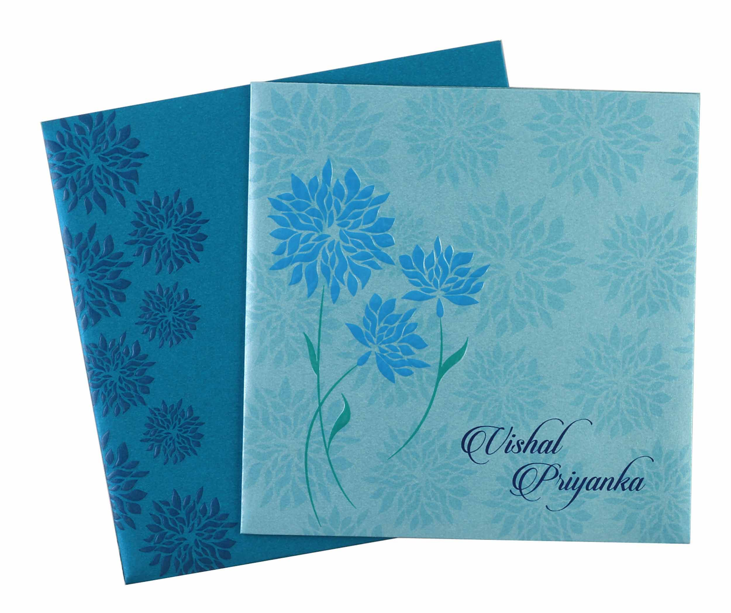indian wedding cards wordings in hindi%0A Flower Patterned Wedding Invitation Card  Hindu