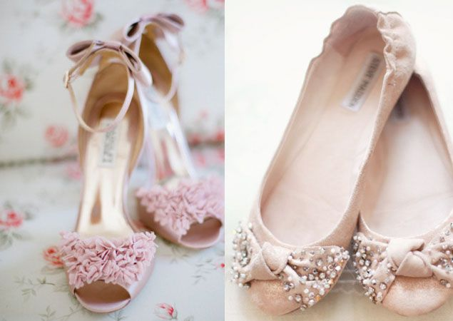 Pale Pink Wedding Shoes One For Saying I Do And