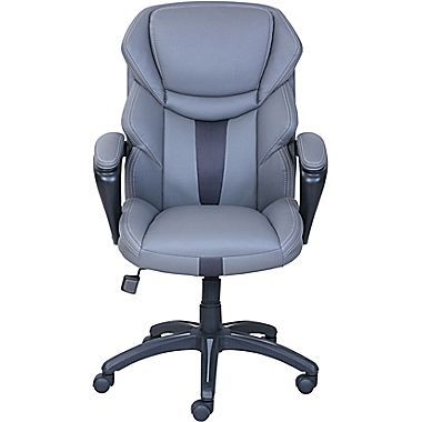 Dormeo Espo Octaspring Faux Leather Managers Office Chair, Fixed Arms, Gray