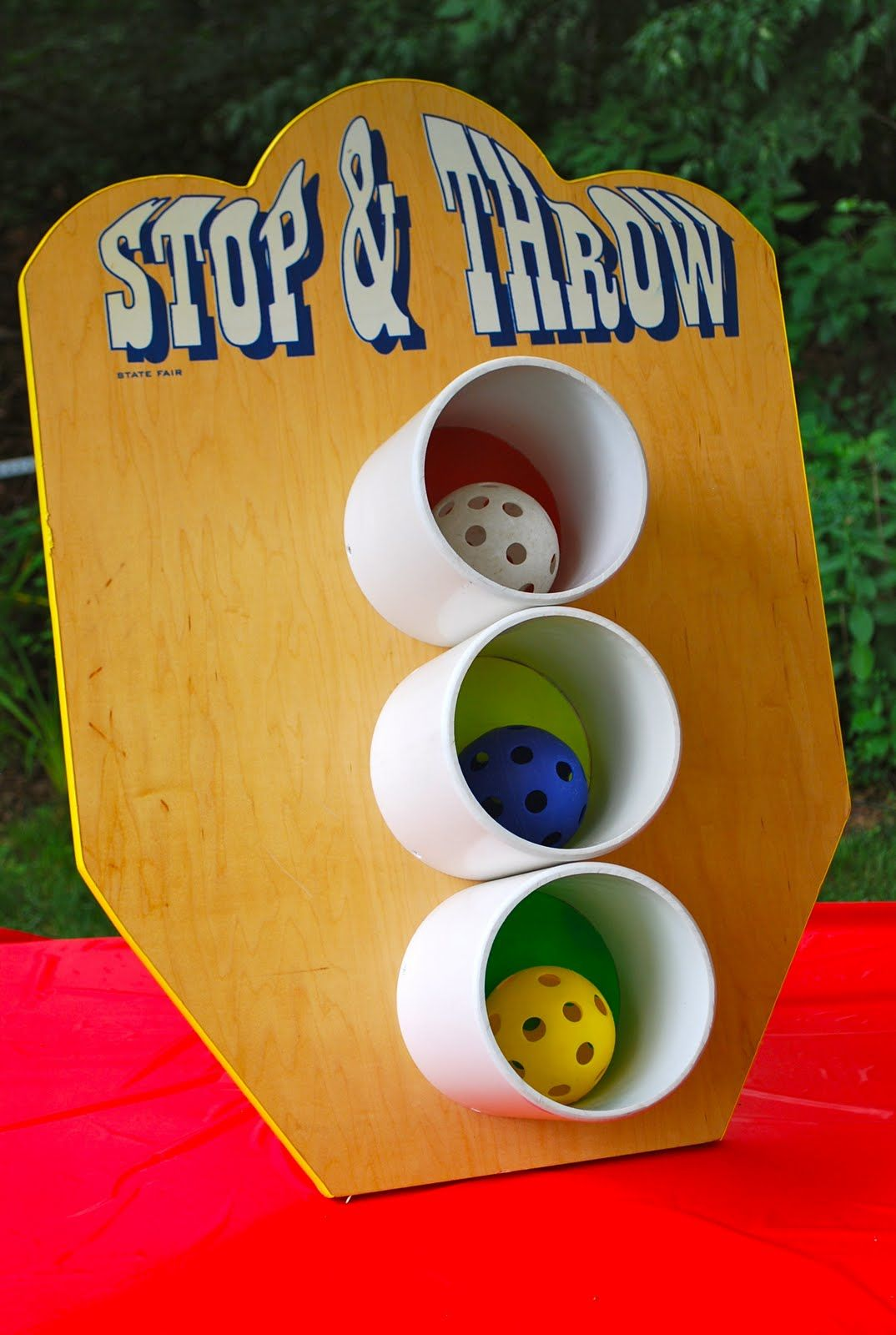 Halloween Carnival Games For Kids.Toss Game For Back Yard Kid Party Via Threadesque Vintage