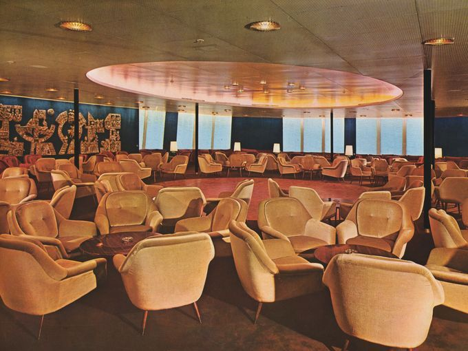 the ballroom aboard the carla c c1969 it was built in 1952 as the rh pinterest com