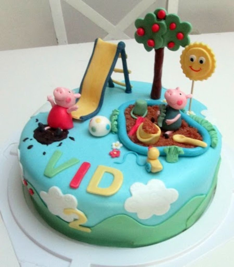 Peppa And George In The Playground On Cake Central 2nd Birthday