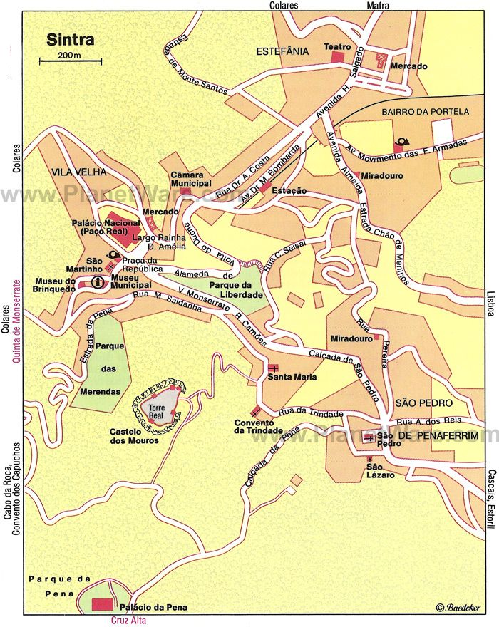 Sintra Map Tourist Attractions Tourist Map Tourist