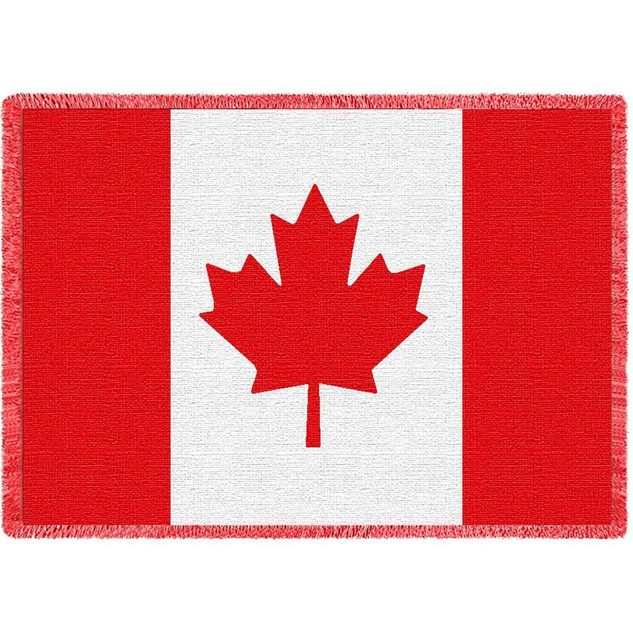 Flag of canada art tapestry throw woven throw blanket