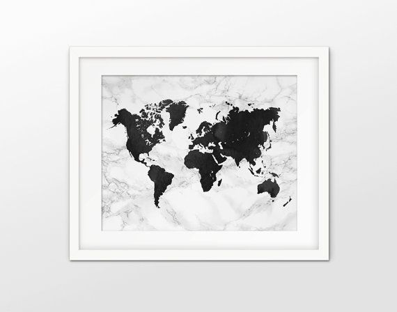 World map art print marble effect world map decor modern decor world map art print marble effect world map decor modern decor world map wall art black and white world geography print 45 gumiabroncs Image collections
