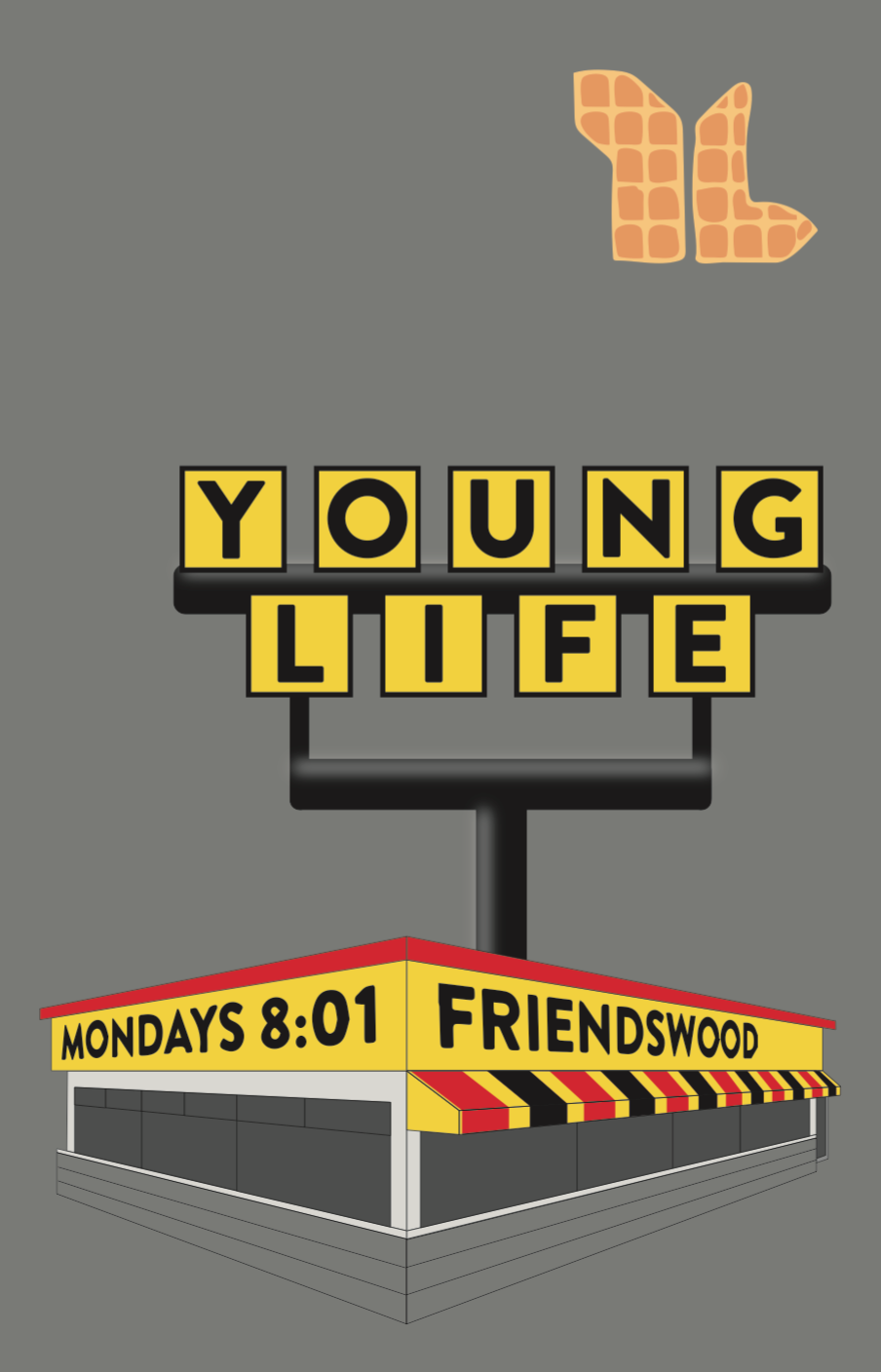 Young Life Shirt Idea Waffle House Design By Jackie Brunk Young Life Life Waffle House