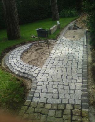 Granit Pflastersteine Verlegen Pflaster Pinterest Garden