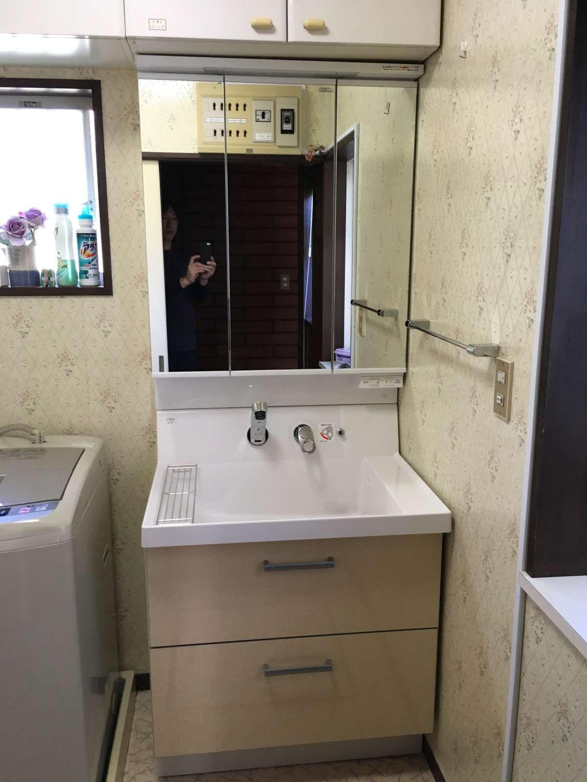 Lixil ピアラ 750幅タイプ シングルレバーシャワー水栓 ピアラ 洗面
