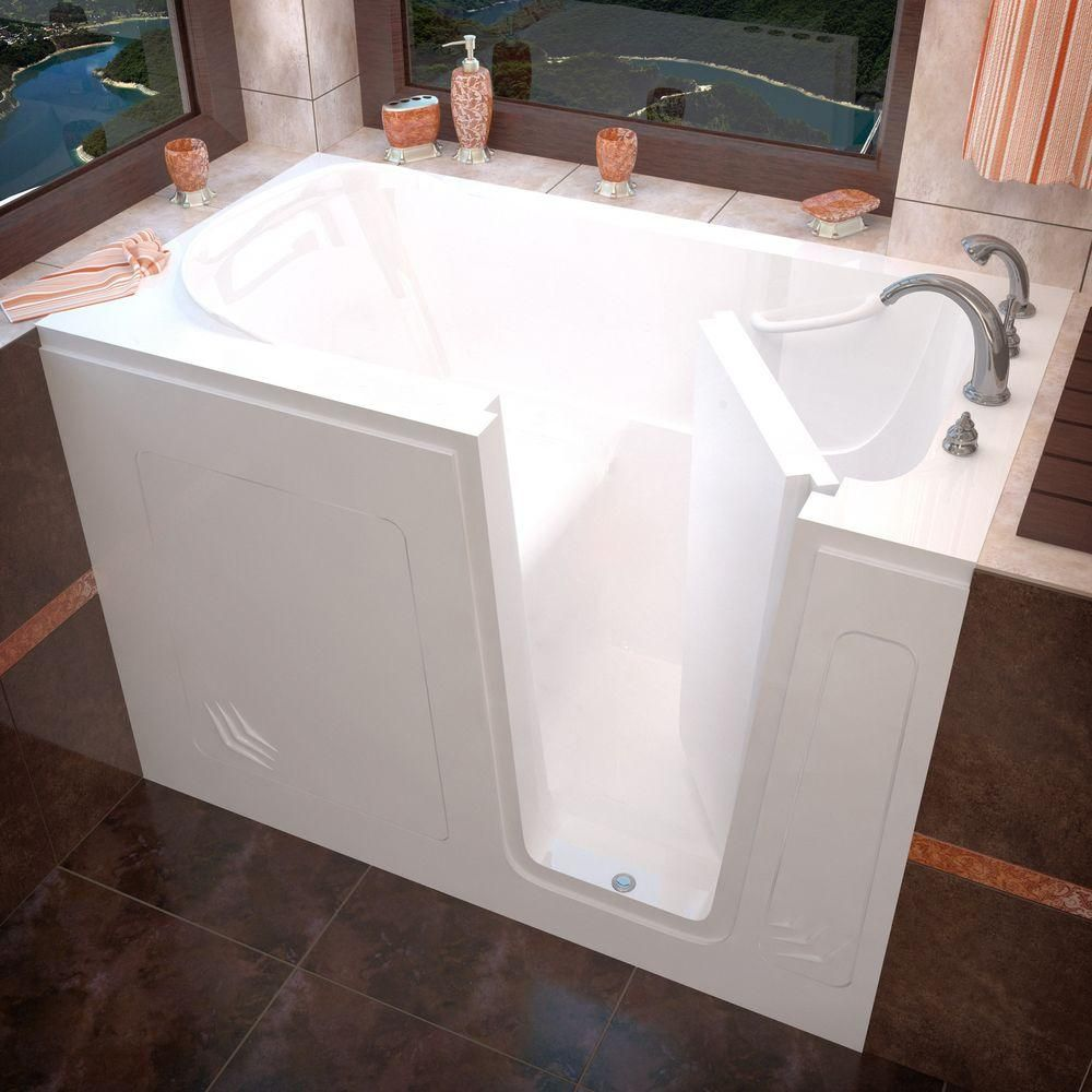 Home Depot Universal Tubs 4.5 ft. x 30 in. Right-Drain Walk-In ...