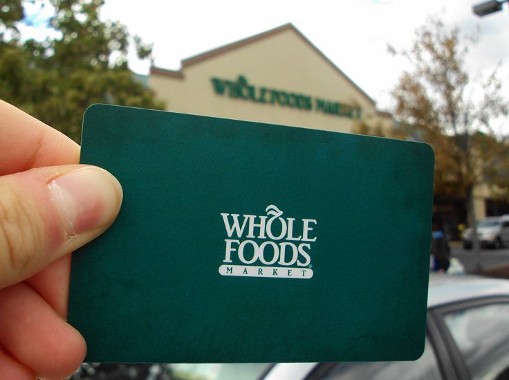 Love Whole Foods. Love Whole Foods Gift Cards. Again, Gift Cards aren't impersonal to me. :)