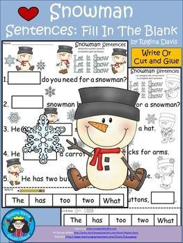 snowman sentence