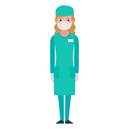 Flat Nurse Character Png Image Download As Svg Vector Eps Or Psd Get Flat Nurse Character Transparent Icon For Yo Free Infographic Templates Character Nurse