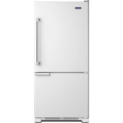 Single Door Bottom Freezer Refrigerator   White. VERY NICE