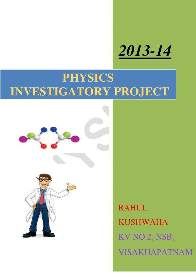 Physics investigatory project class 12 education pinterest physics physics investigatory project class 12 solutioingenieria Choice Image
