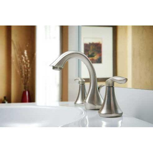 Moen T6420bn Eva Brushed Nickel Two Handle Widespread Bathroom Faucet Widespread Bathroom Faucet Bathroom Faucets Faucet