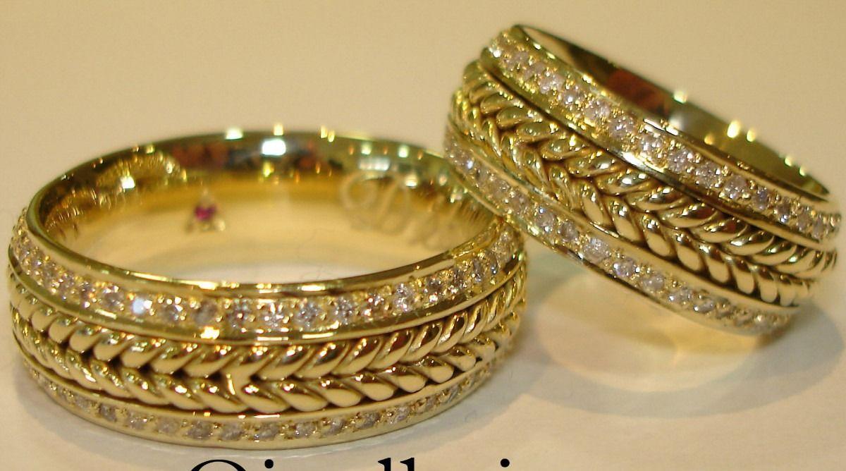 34b245e6d7a modelos de alianças para casamento - Alianças de Casamento e Noivado em Ouro  18klts Reisman