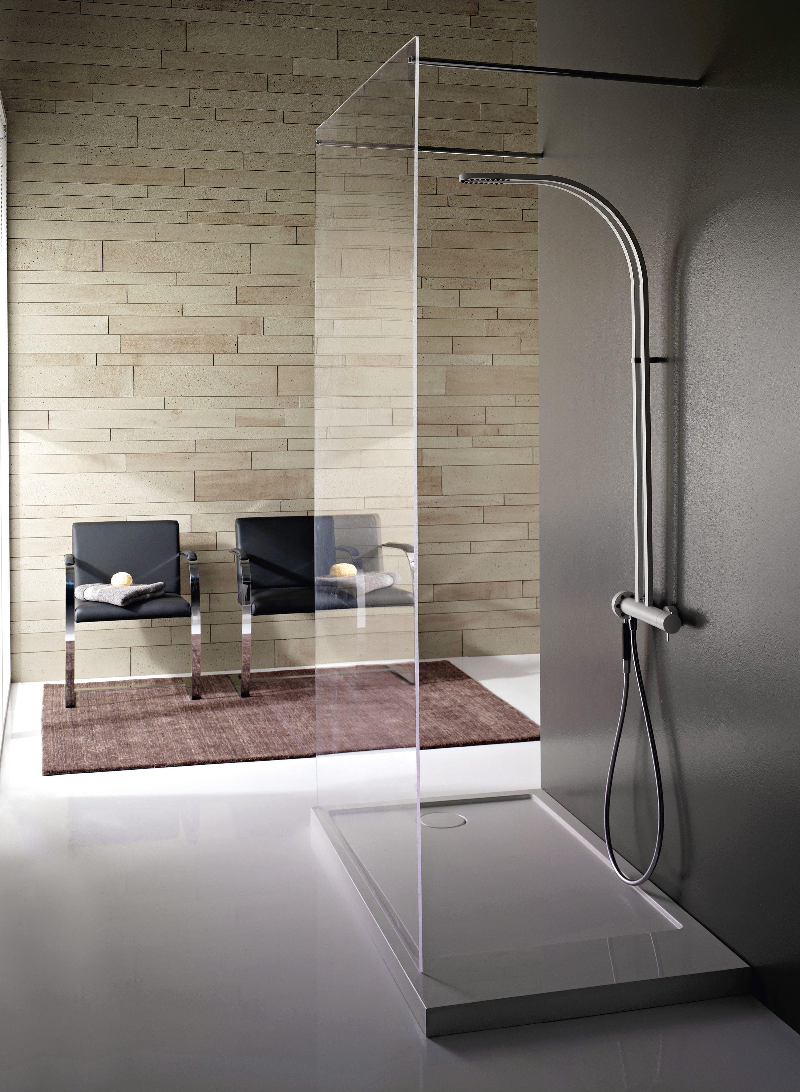 Modern rain shower from Aquabrass StrinG Shower