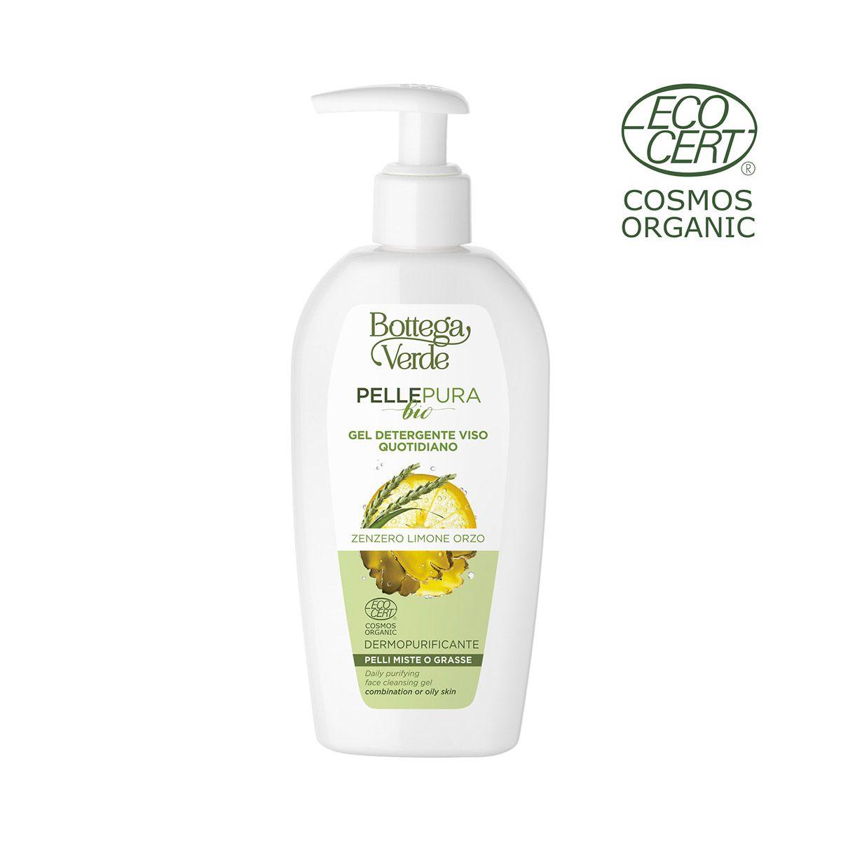 Pelle pura bio – Gel detergente viso quotidiano, dermopurificante, con estratto …