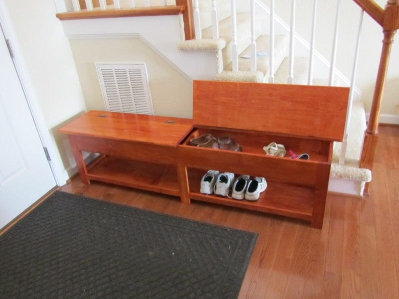 Delicate Brown Wooden Bench With Brown Wooden Flip Top Shoe Storage Bench & Delicate Brown Wooden Bench With Brown Wooden Flip Top Shoe Storage ...