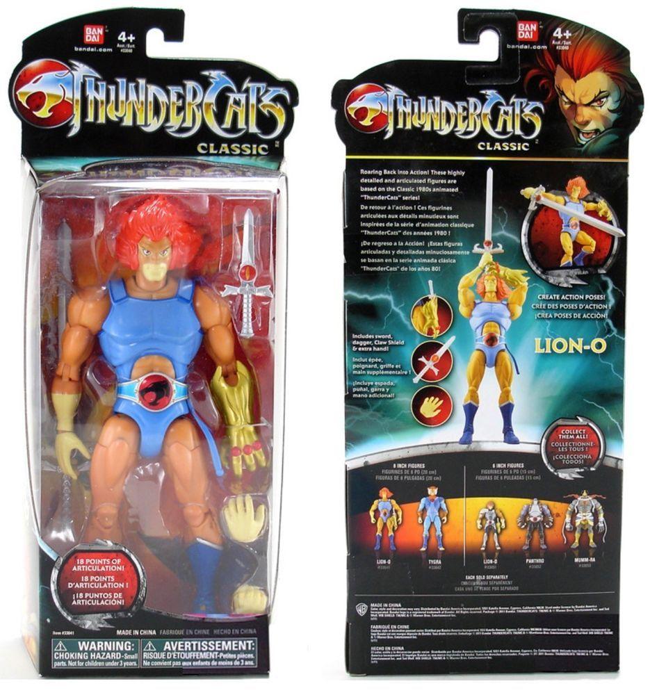 """Thundercats Collectible 6/"""" Lion-O by Bandai NIP"""