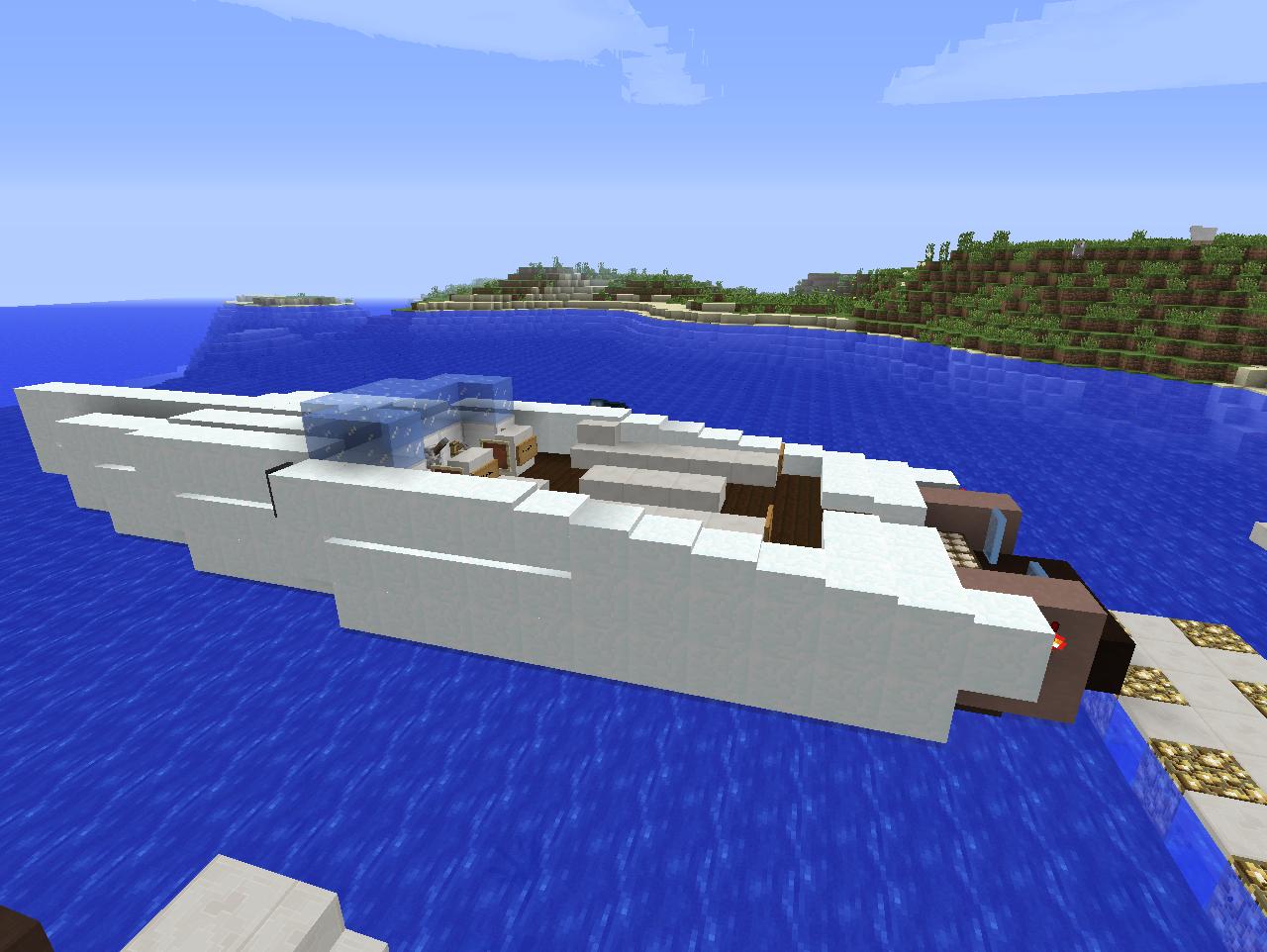 моторная лодка майнкрафт #5