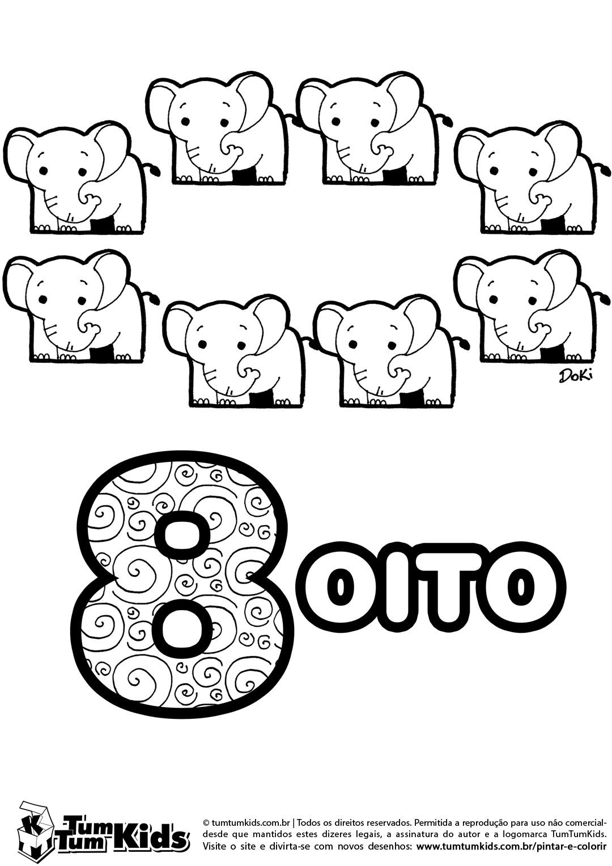 Doki Numeros 8 Imprimir Com Imagens Numeros E Quantidades