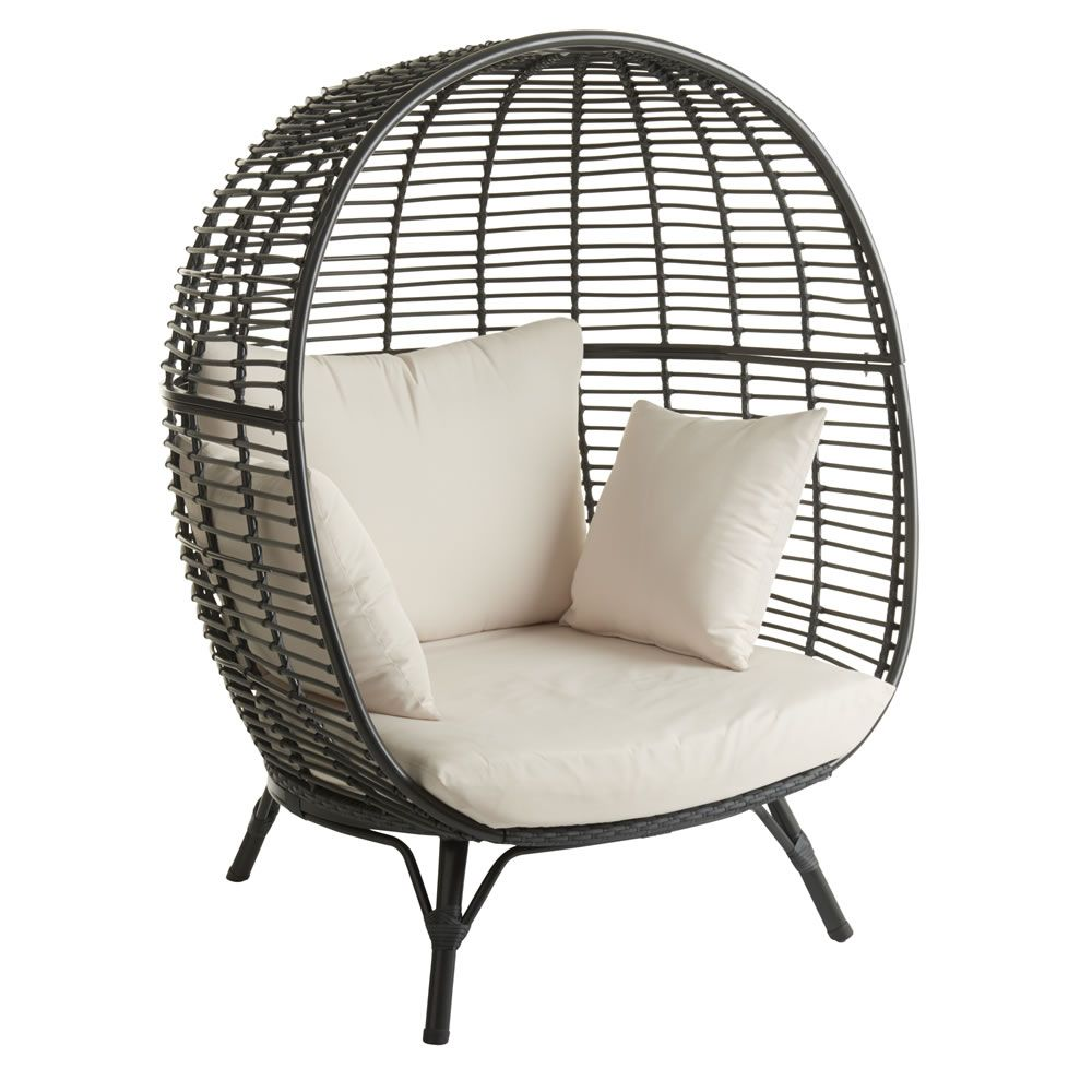 Garden Snuggle Egg Chair Rattan Effect