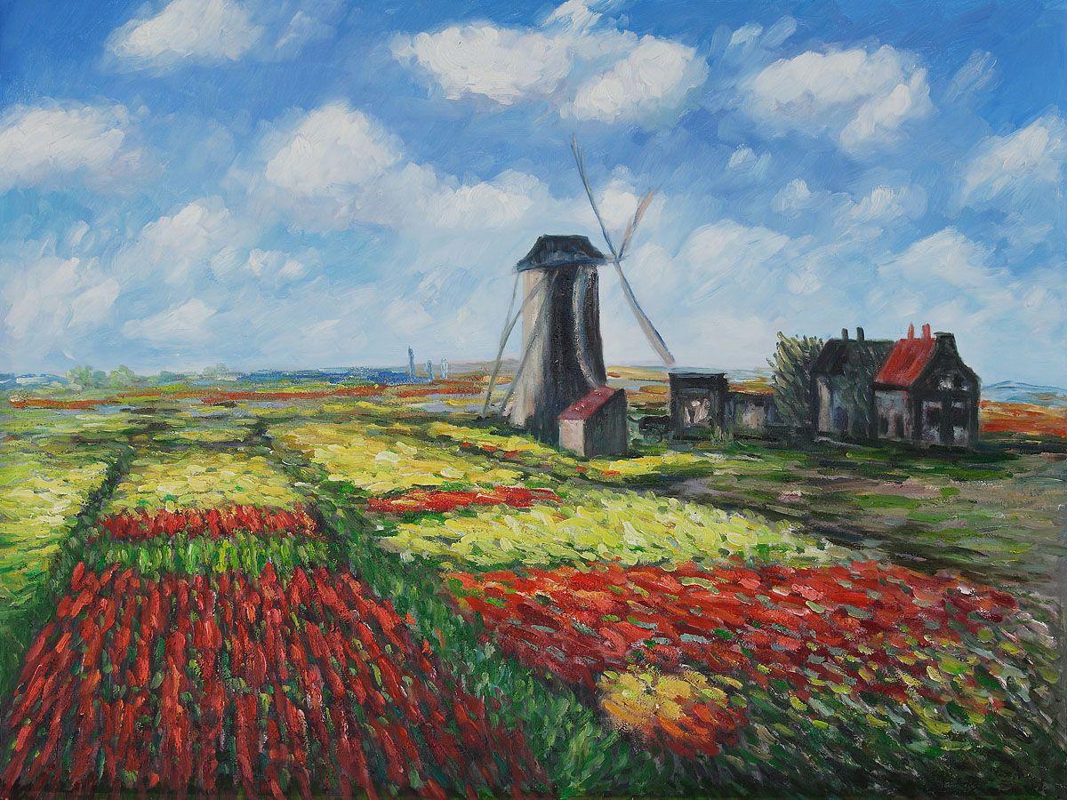 Claude Monet - Tulip Field with the Rinjnsburg Windmill