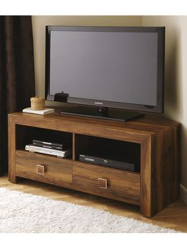 Home Collection Leby Corner Tv Unit Fits Up To 55 Inch On
