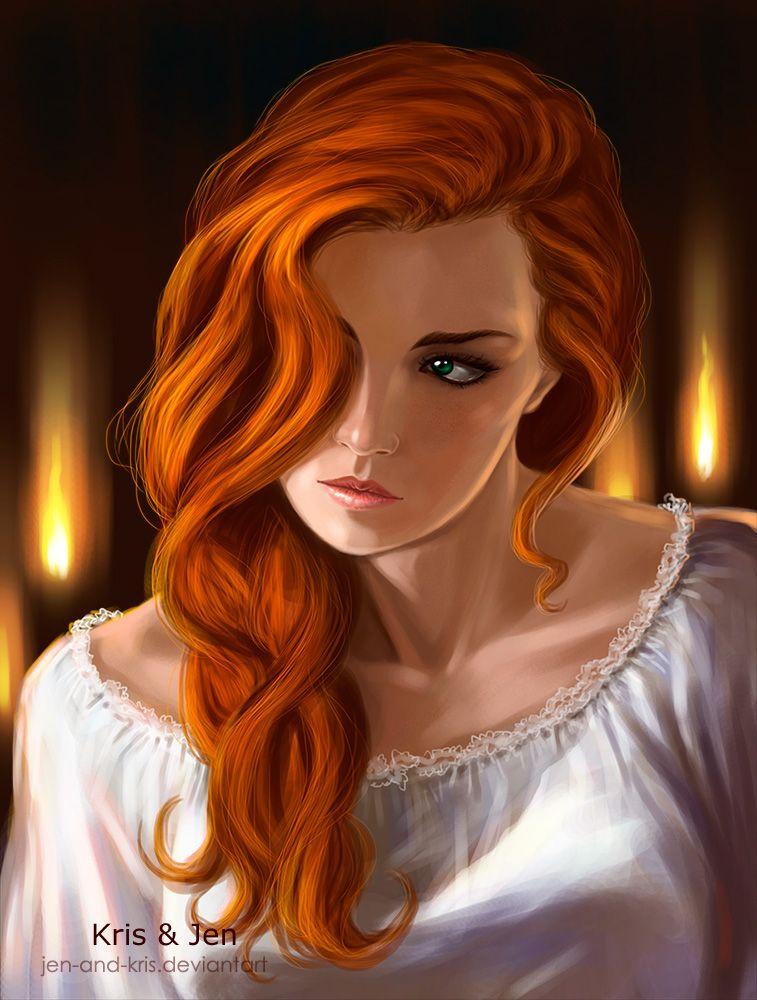 Девочка с рыжими волосами картинки