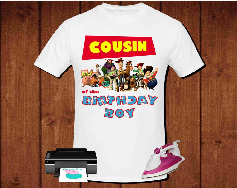 Cousin Of The Birthday Boy Toy Story Design For Iron On Transfer