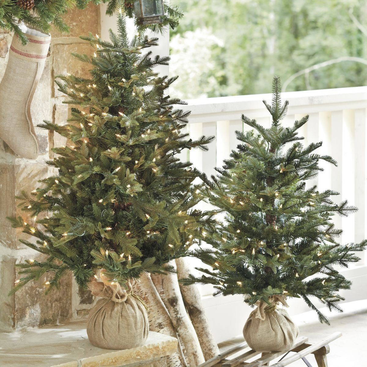 Christmas Tree Tabletop Part - 40: Great Way To Bring Christmas Decorating Into Every Room - Ballard Design -  Suzanne Kasler Frasier Fir Tabletop Tree