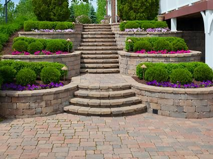 Terraced Planter Stairs