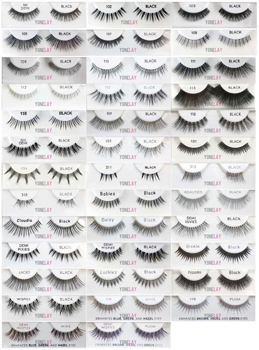 4e5e17c0cf8 Pick Any 4 Pairs Ardell Natural False Eyelashes Lash Fake Eye Lashes  Invisibands