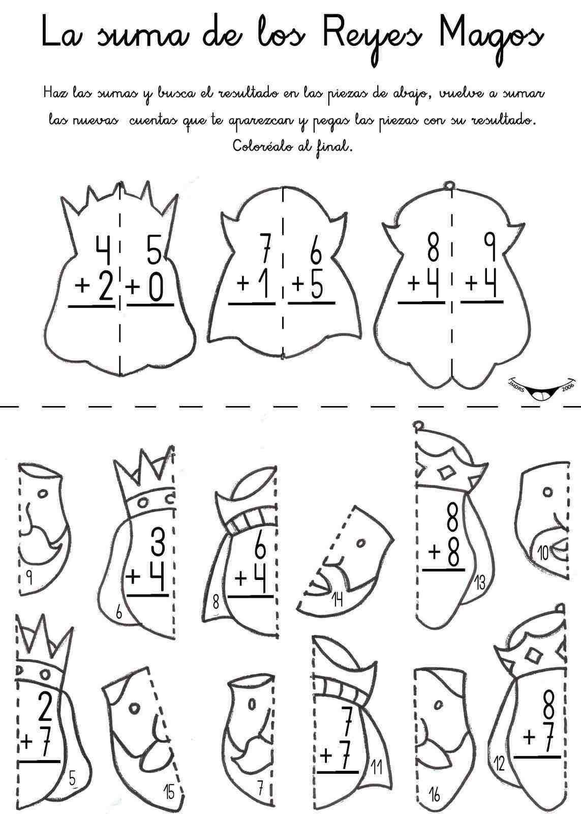 Lernübungen für kinder zu drucken. Funny Addition Spanisch zu lernen ...
