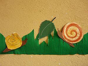 Papier schnecken schnecken schnecken kindergarten for Angebote kindergarten herbst