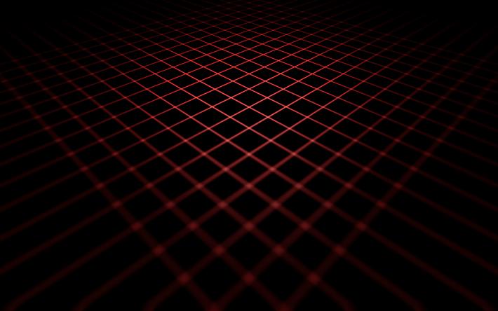 Download Wallpapers Neon Grid Darkness 4k Lines Creative