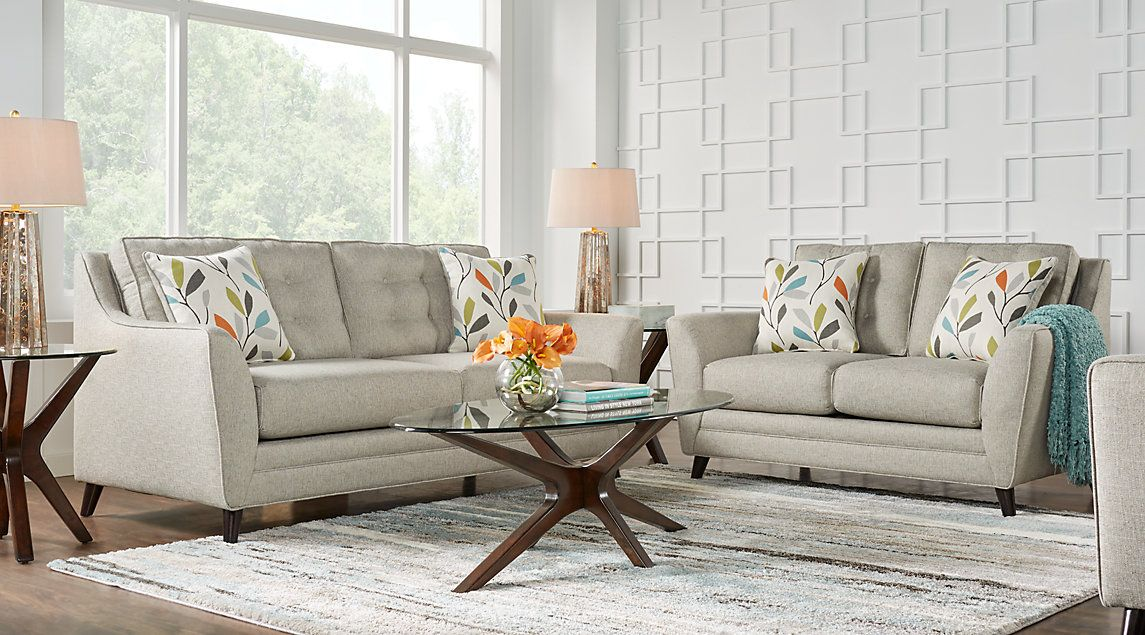 Cobble Heights Dove Gray 7 Pc Living