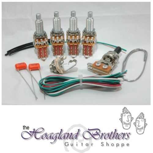 DIY Jimmy Page LongShaft Wiring Harness Kit 2 push/pull