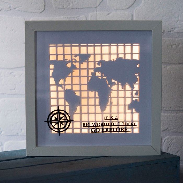 World map framed papercut mood light gettingpersonal world map framed papercut mood light gumiabroncs Images